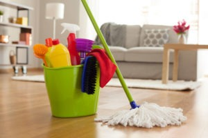 cleaning living room house cleaner